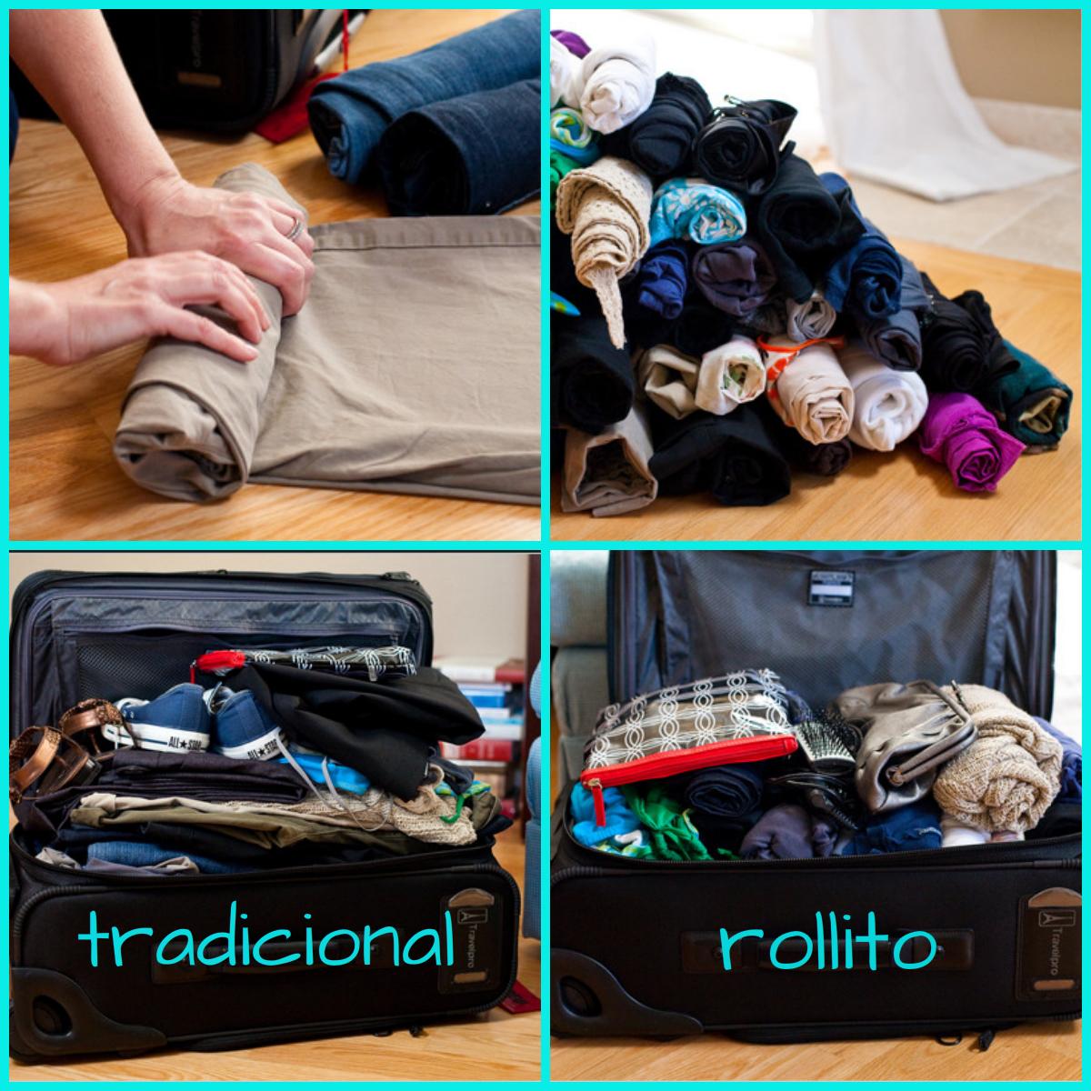 Muestra tu liebling maletas para viajes low cost - Como doblar ropa interior ...