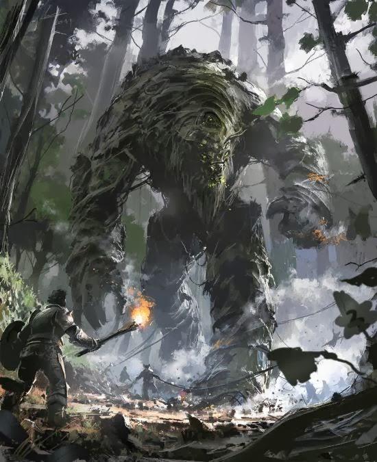 Ignacio Bazán Lazcano neisbeis deviantart illustrations card games fantasy Life colossus