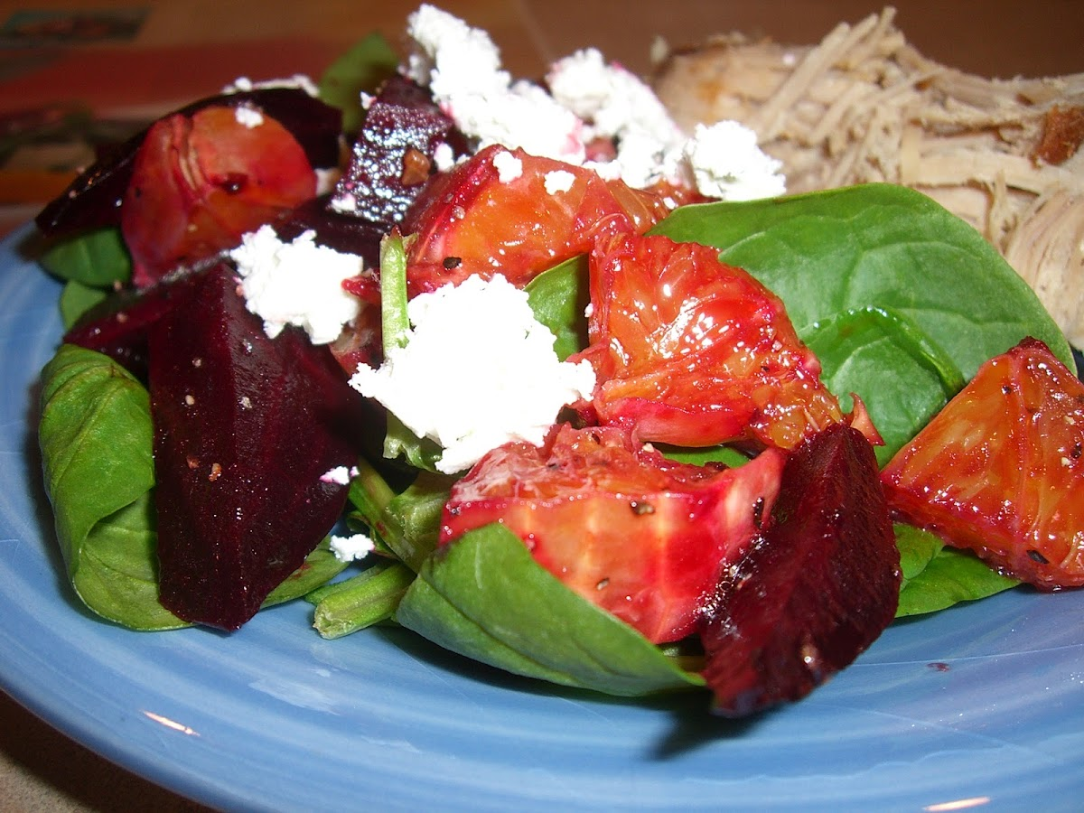 Citrus Beet Salad and Pulled Pork