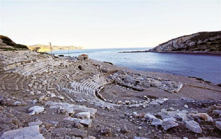 Knidos church and theatre under restoration - The ...
