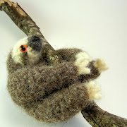 Here's a felted sloth that has a great texture! slothfelt