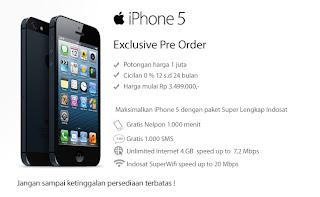 iPhone 5 pre-order Indosat 7 - 12 Desember 2012