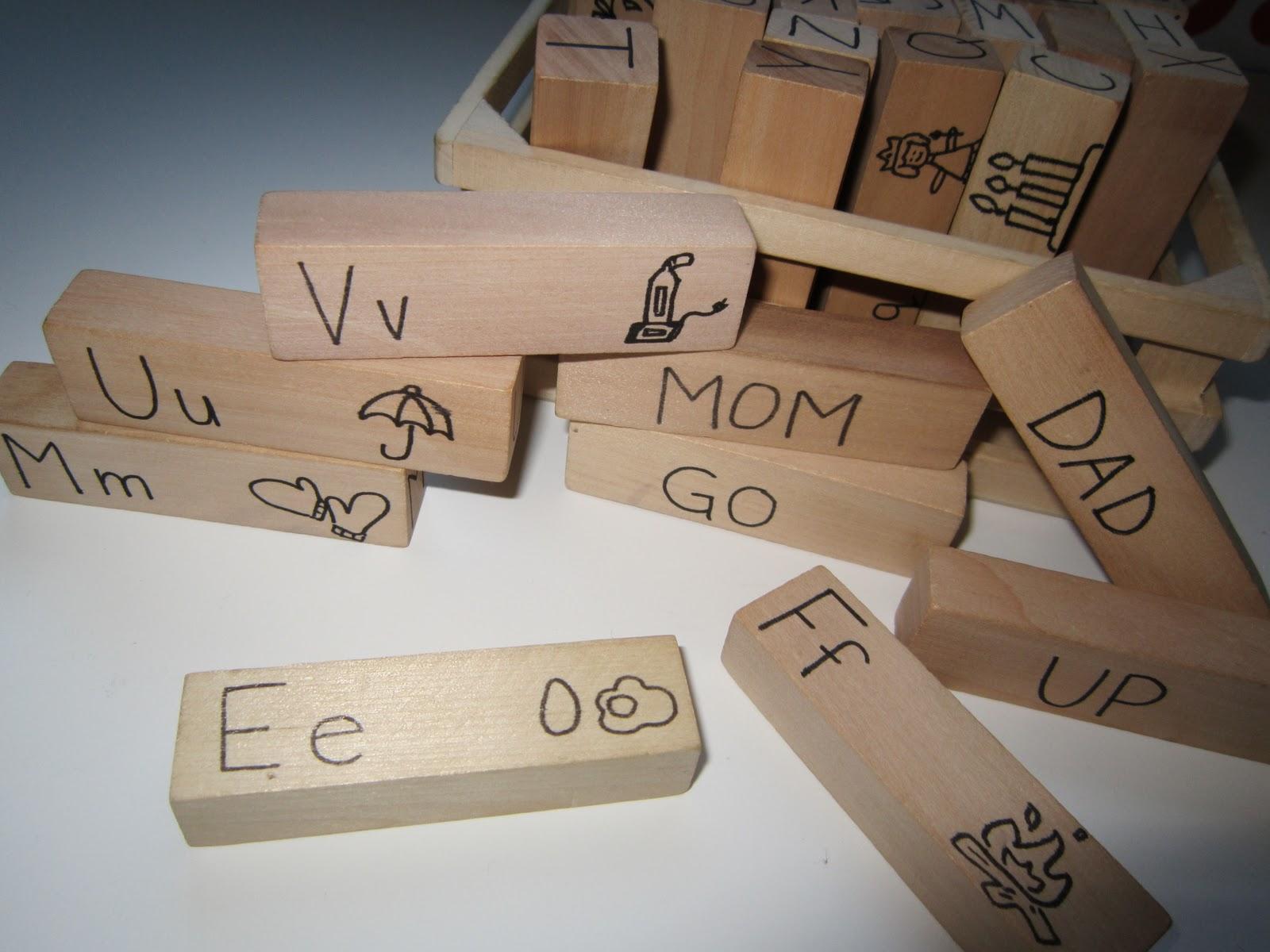 Easy Wooden Alphabet Blocks Tutorial