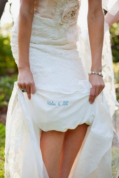21 Insanely Fun Wedding Ideas - And for the bride, a little something blue
