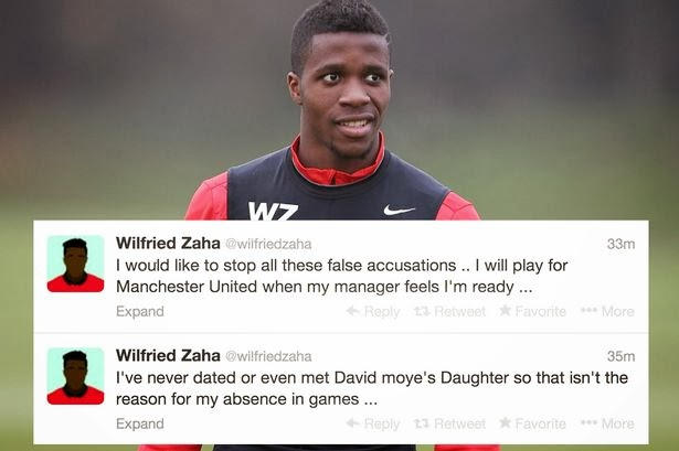 Manchester United's Wilfried Zaha Denies DATING David