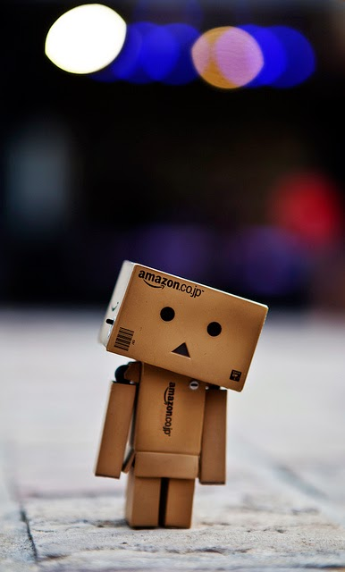Danbo waiting (by Luke Baldacchino)