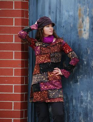 DSC 0701dress3 - Purple Aplenty: Astral Skies Patchwork Dress