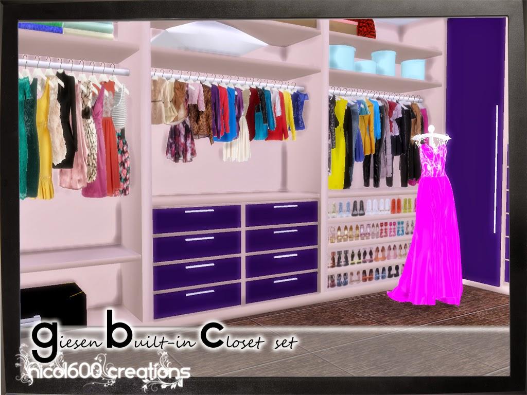 My Sims 4 Blog Walk In Closet Amp Living Set Wallpaper And