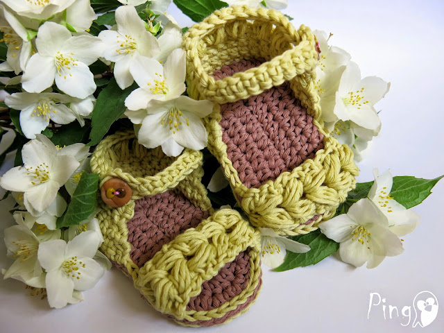 Baby Sandals Vivi - crochet pattern by Pingo - The Pink Penguin