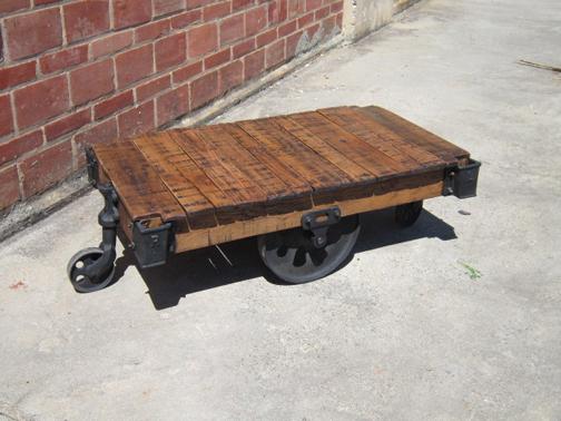 Industrial Wheel Lineberry Cart