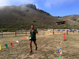 2015 Tamalpa Headlands 50k finish.