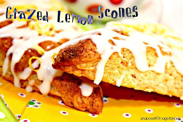 glazed lemon scones / scones de limão / scones de limón