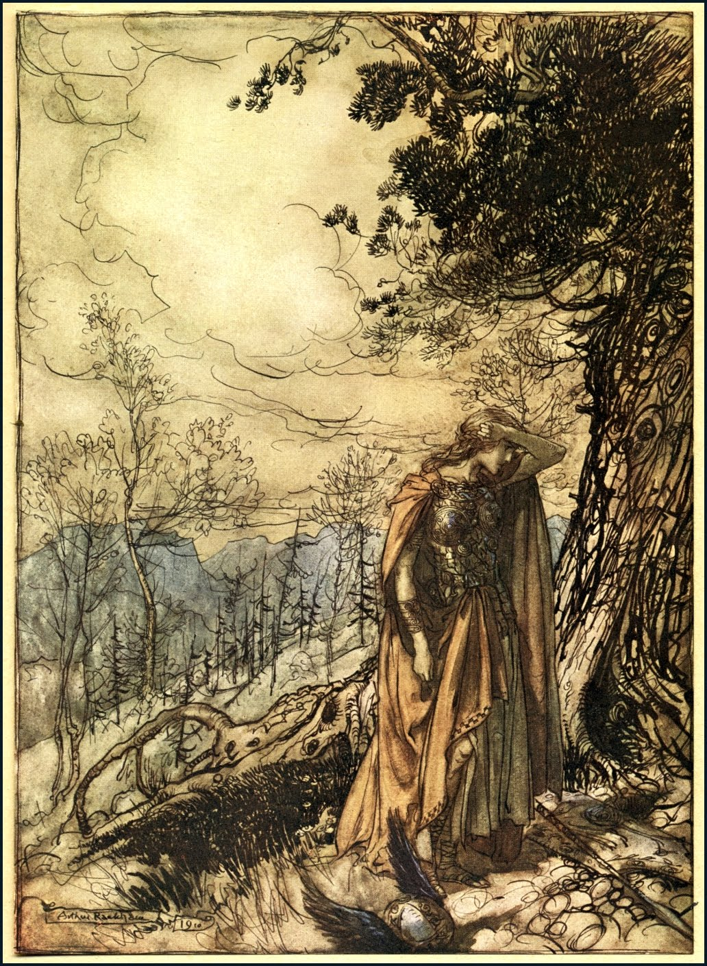 Arthur Rackham 1867 1939 The Ring Of The Niblung By