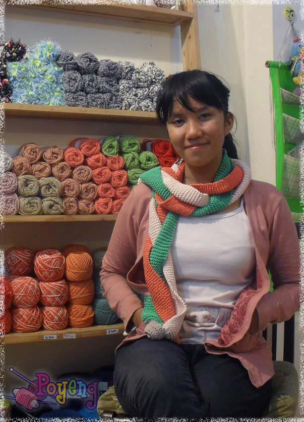 Ajeng Belajar Merajut: Rajut Free Knitting Pattern : Three Color Braided Scarf