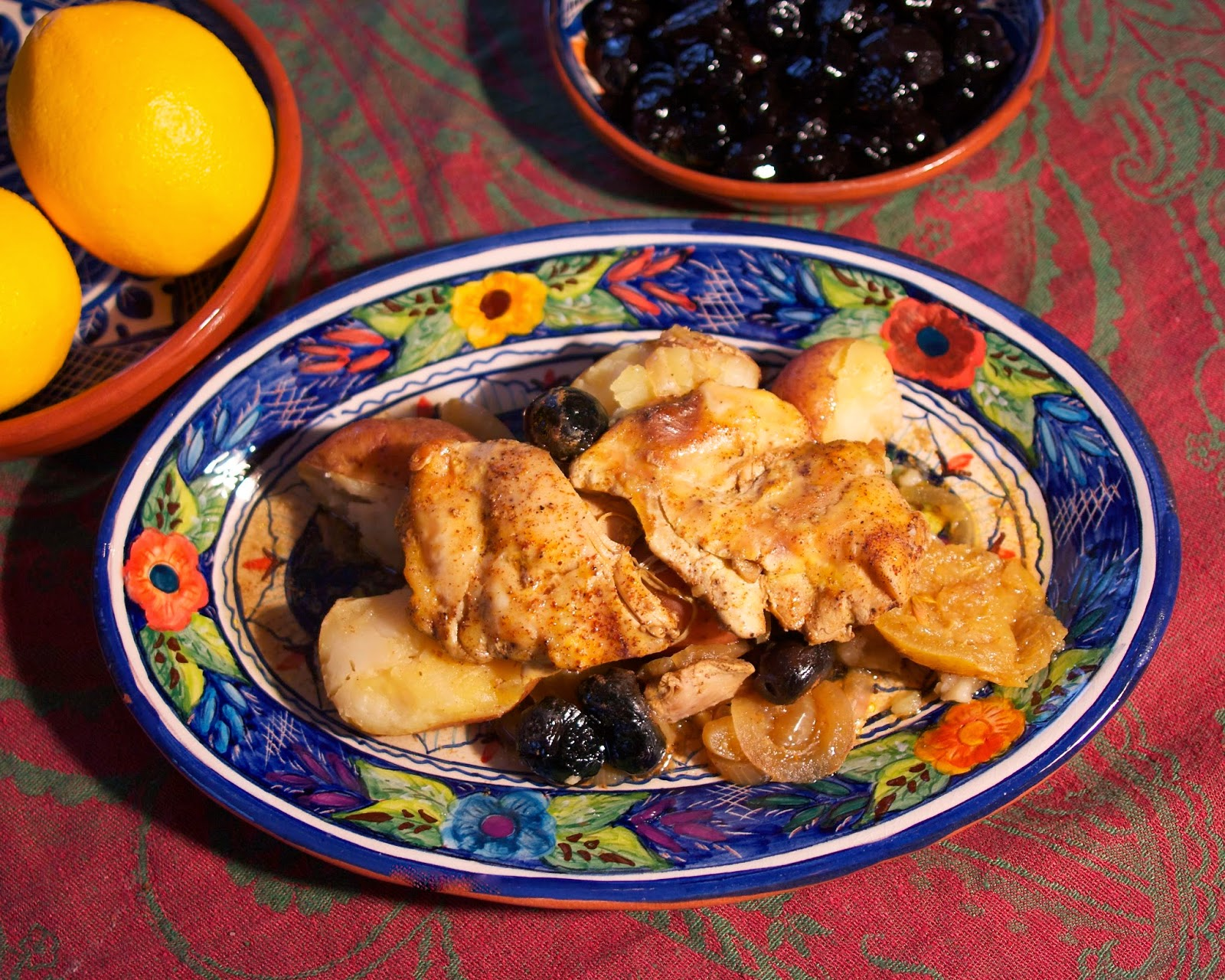 slow cooker moroccan chicken: simplelivingeating.com