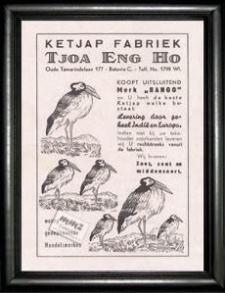 Kecap 'BANGO', iklan th. 1937.