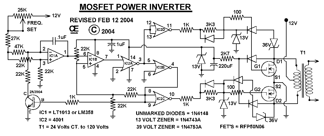 Watt Power Inverter Circuit Diagram CircuitsTune - Circuit diagram of an inverter