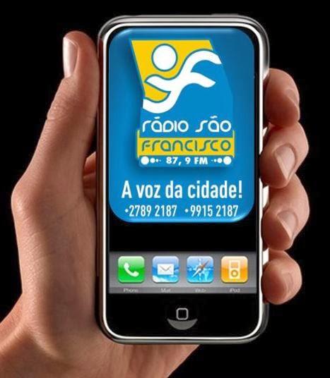 Ouça a Rádio São Francisco através de smartphones ou tablets - Clique no celular abaixo