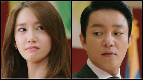 Nam Da Jung and Kwon Yul let their true emotions show as they look at each other with contempt.
