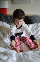 Boy Kids Feet Pajamas