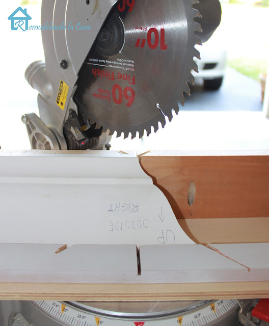 miter saw for cutting crown
