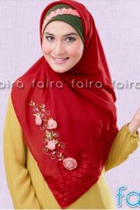 Faira Jilbab BA 376 - Merah (Toko Jilbab dan Busana Muslimah Terbaru)