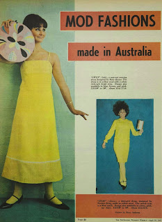vintage 1960s mod fashions made in Australia