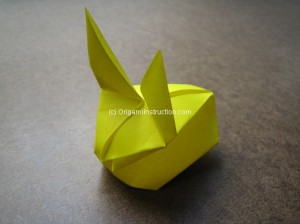 Origami Instruction Inflatable Rabbit