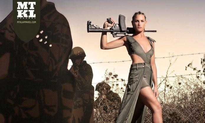 Vraies filles militaires nues