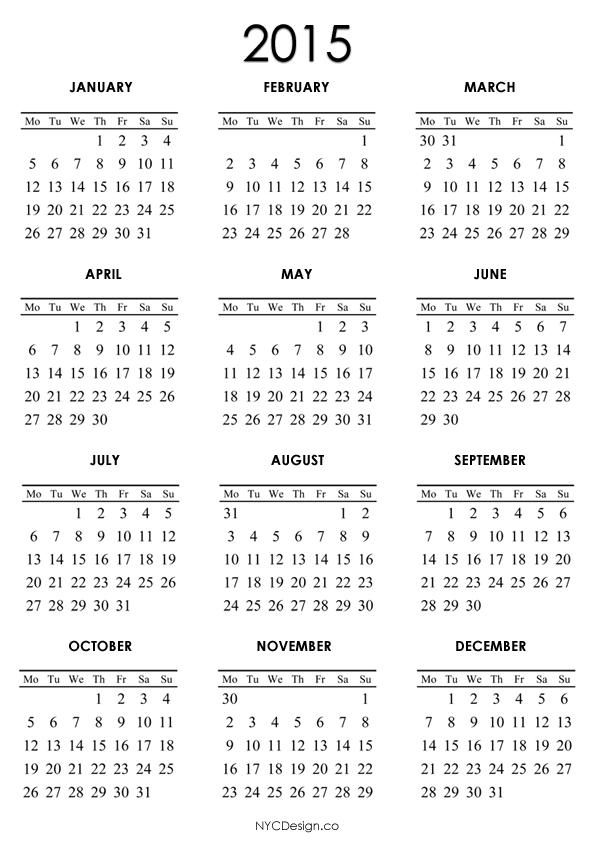 New York Web Design Studio, New York, NY: 2015 Calendar ...