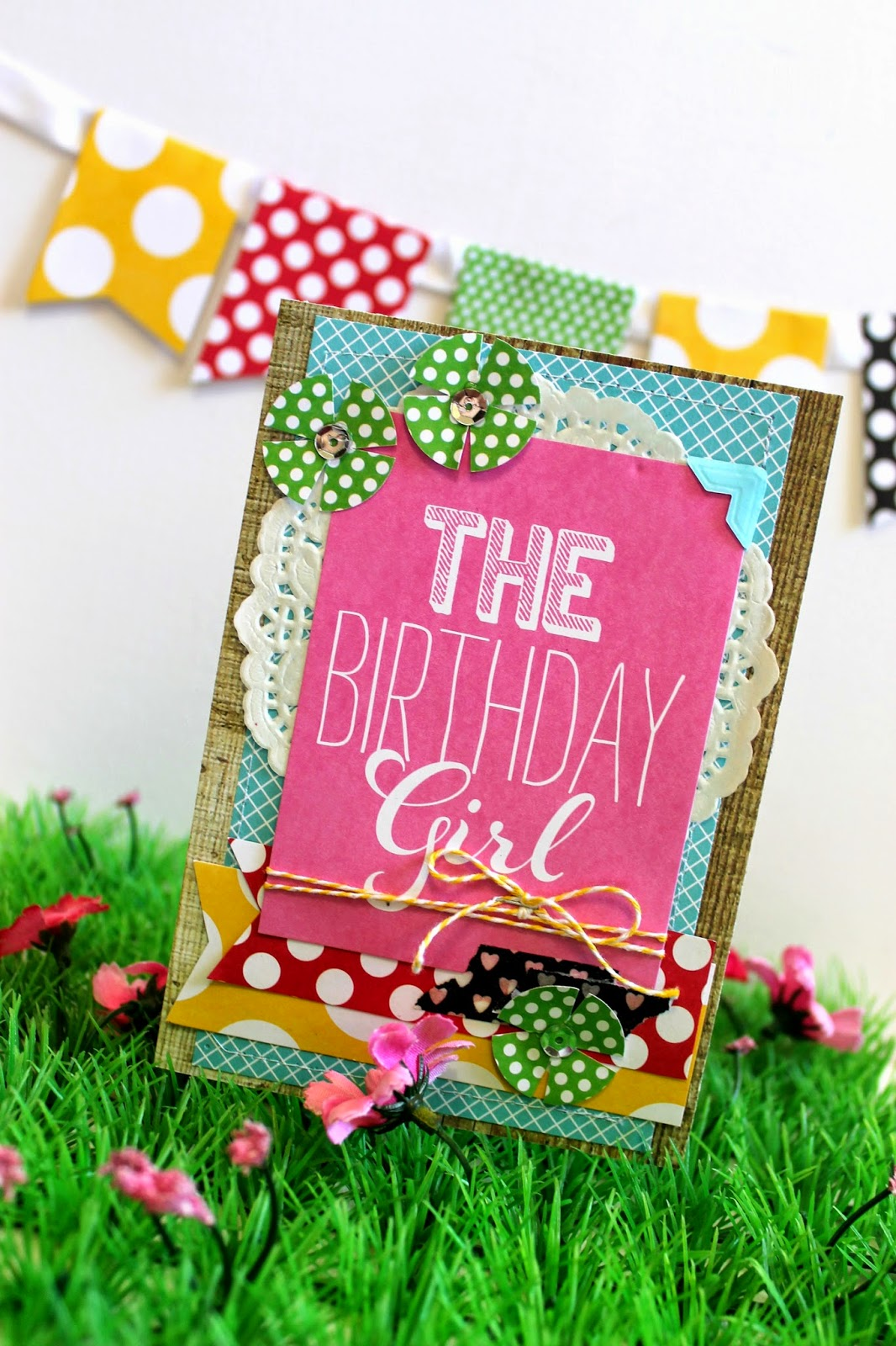 The Birthday Girl card using Me & My Big Ideas project Life cards.