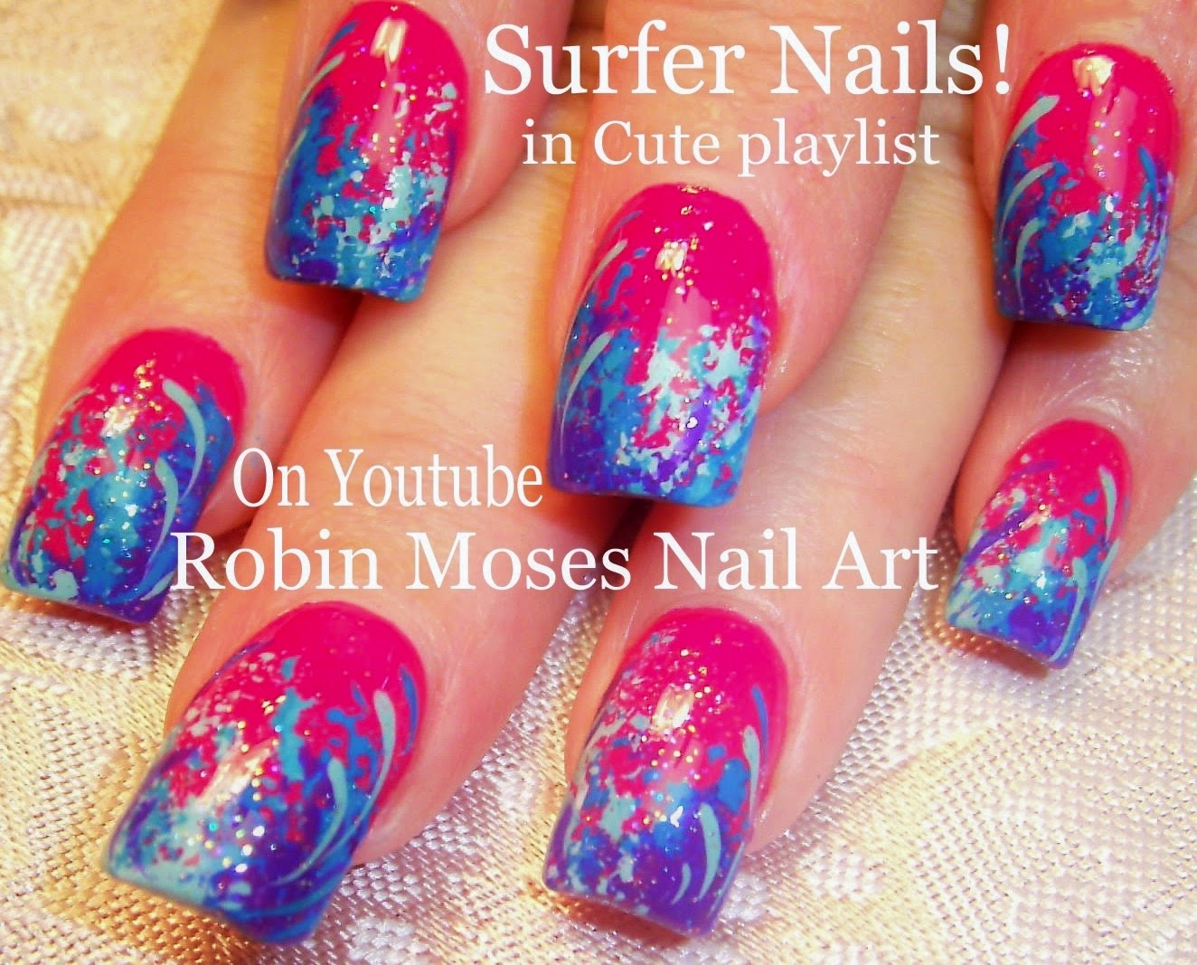 Nail Art By Robin Moses Cute Spring Sponge Technique Tutorial For