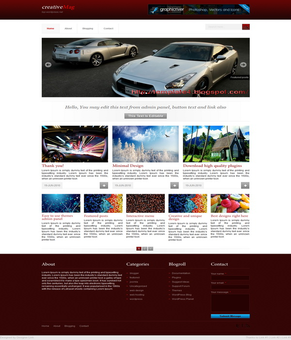 Creative Mag WordPress Theme