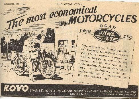 Stara reklama Jawy USA