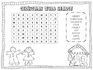 As a freebie for all of you, I have made some Christmas Word Searches.