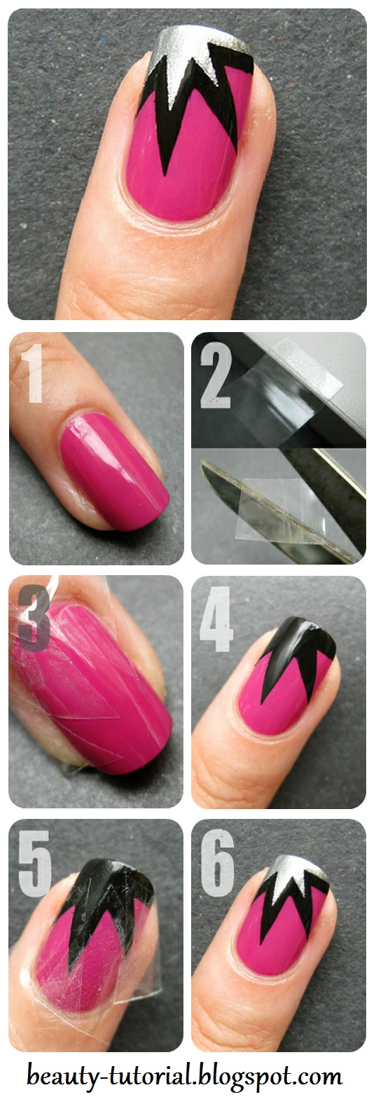 DIY Easy Tape Nail Art Designs