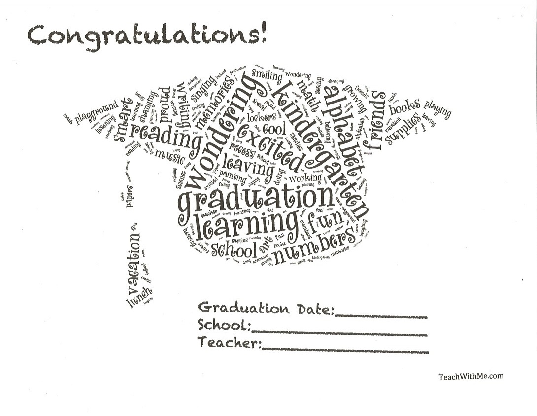 ... make your students who are graduating from kindergarten or preschool