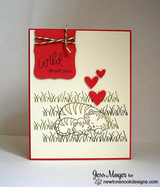 Mom and Baby Tiger card by Jess Moyer for Newton's Nook Designs | Wild Child Stamp Set