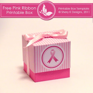 Free Printable Box Pink Ribbon