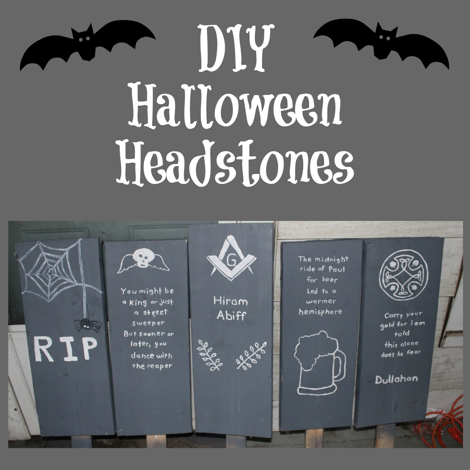 diy halloween headstones - the (mis)adventures of a homesteadin' mama