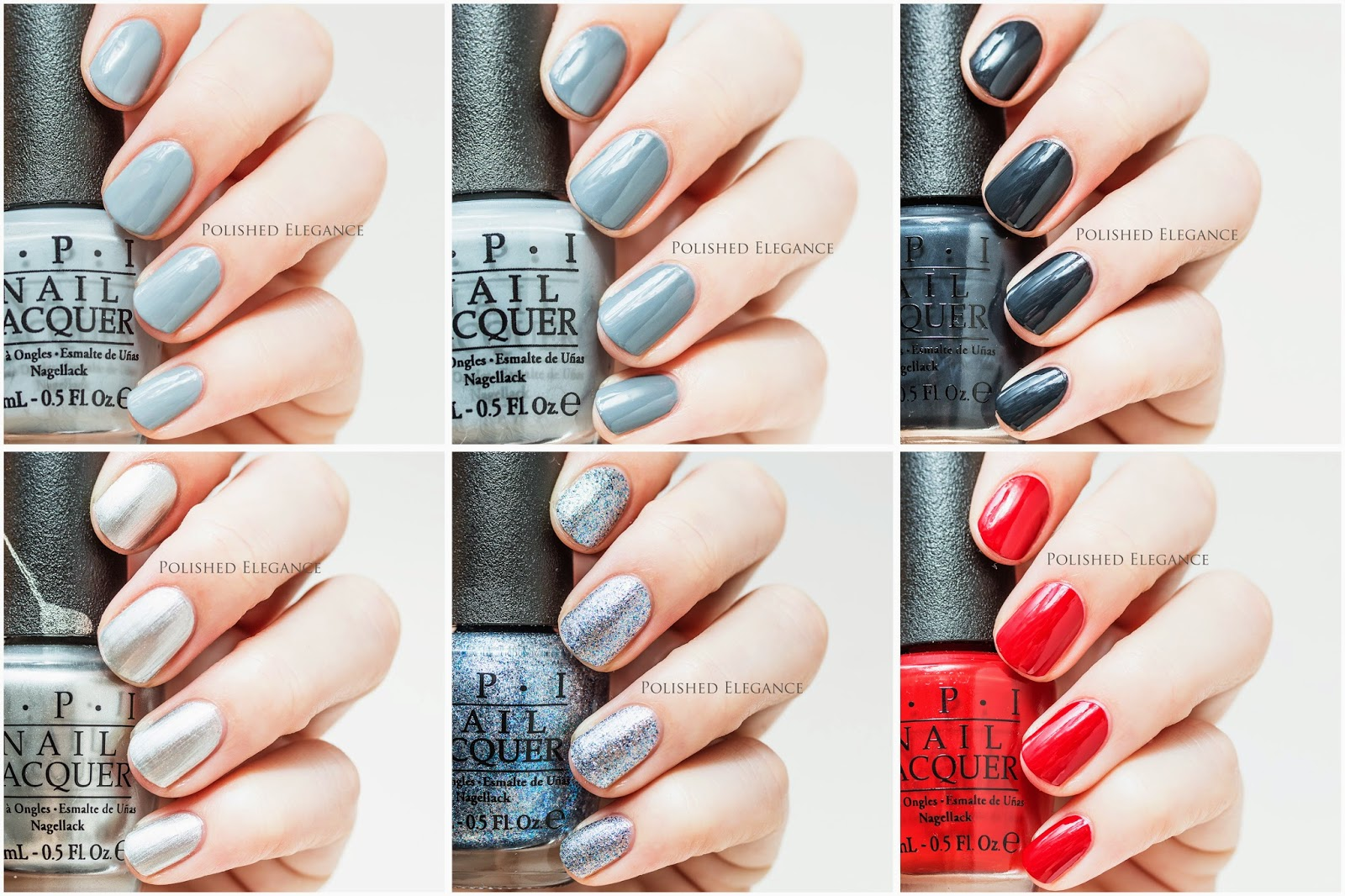 OPI - Fifty Shades Of Grey collection swatches review