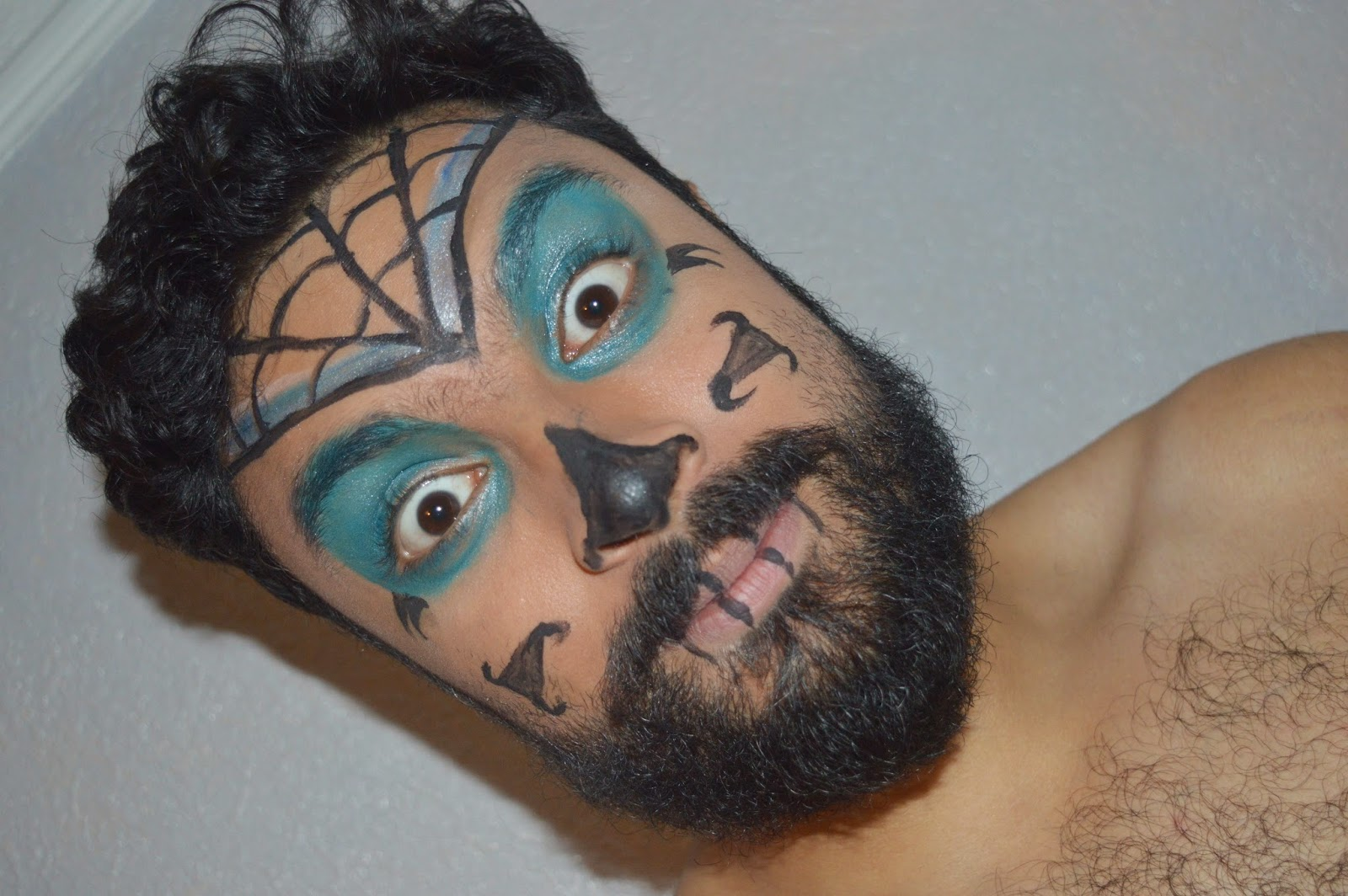 sugar skull makeup for men