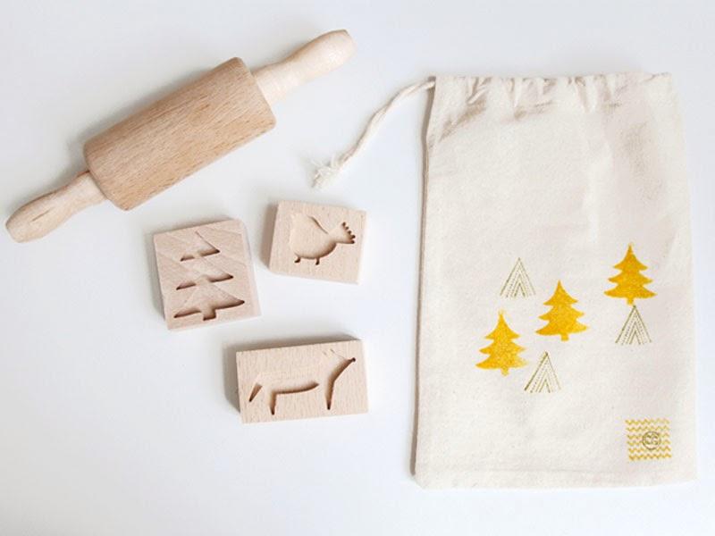sellos para galletas navideñas de Caroline Gomez