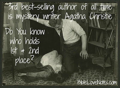Agatha Christie, Bible, best-selling book of all time, Shakespeare