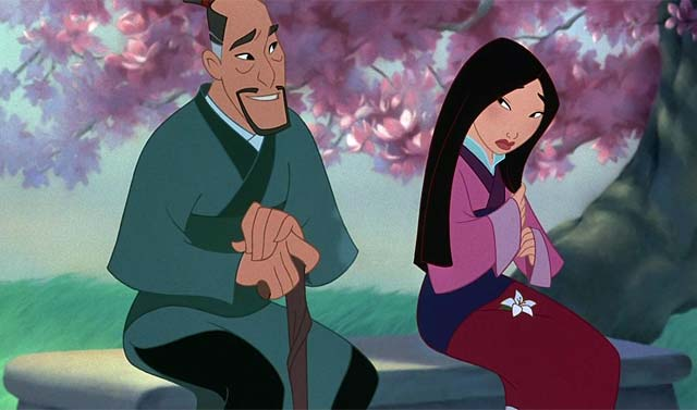 Mulan and Li Shang Mulan 1998 animatedfilmreviews.blogspot.com