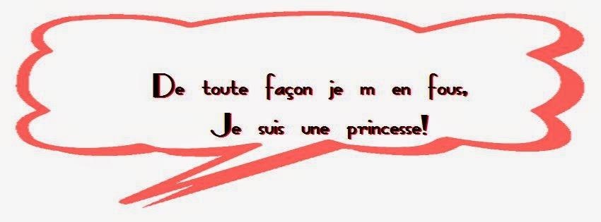 Couverture facebook je suis une princesse