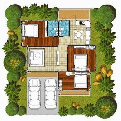 rumah sederhana 3 kamar