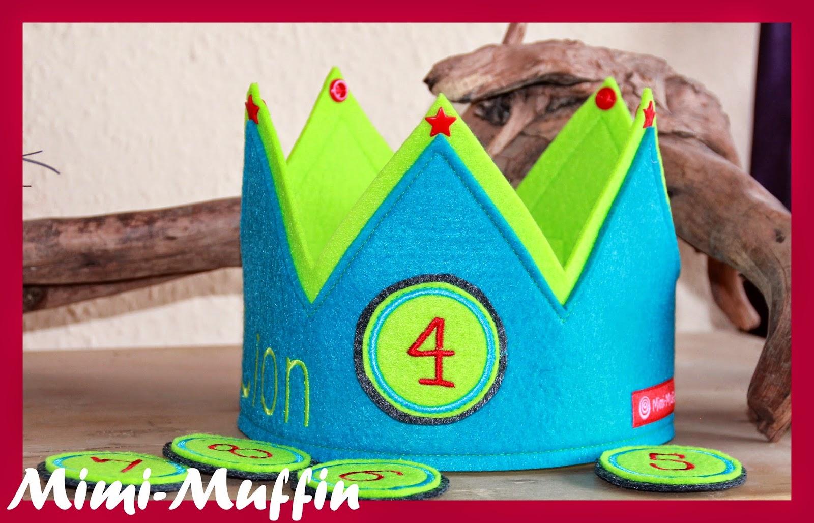 Mimi muffin geburtstagskrone mit klettzahlen - Piratenzimmer deko ...