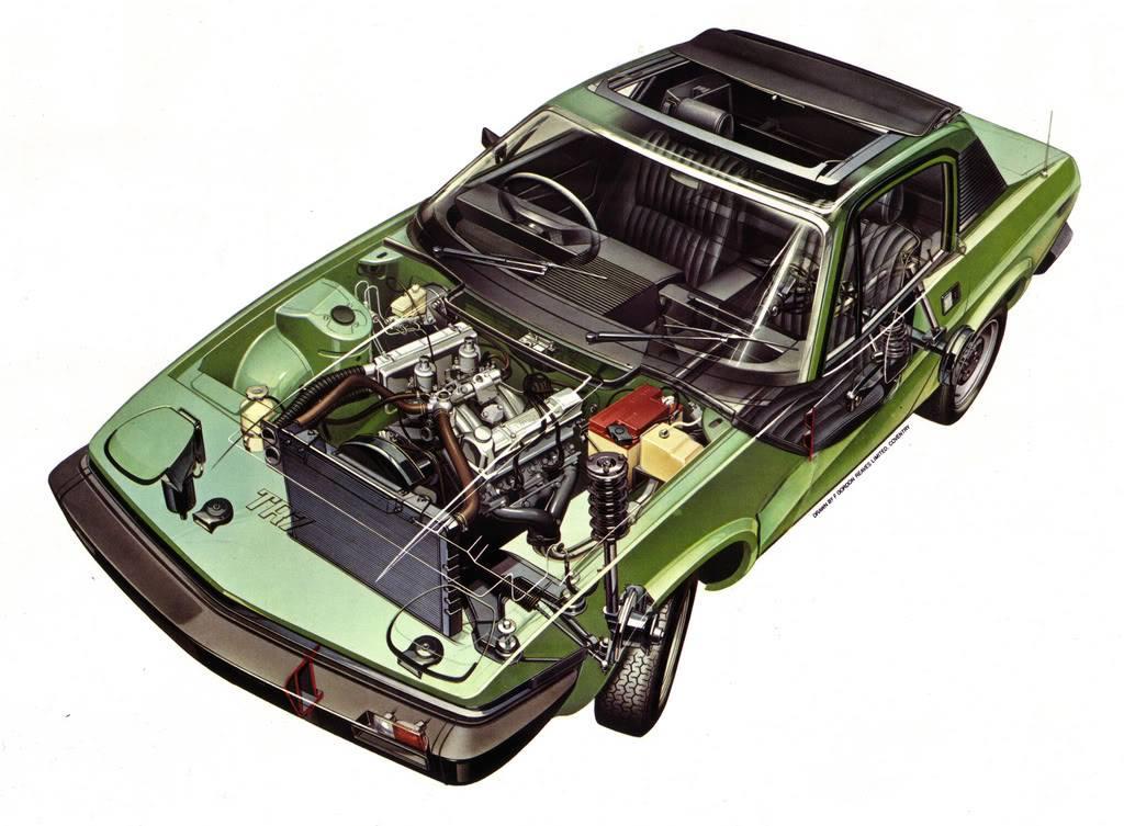 Triumph TR7 cut away image