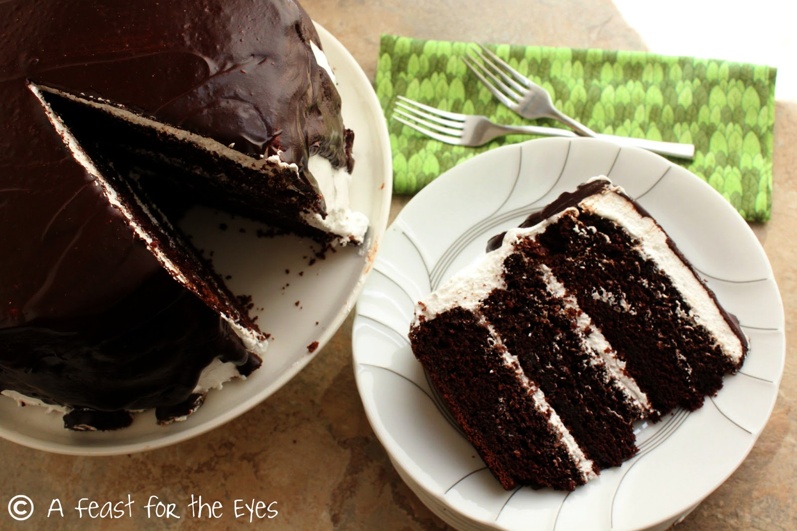 A Feast for the Eyes: Guinness Chocolate Cake with Italian ...